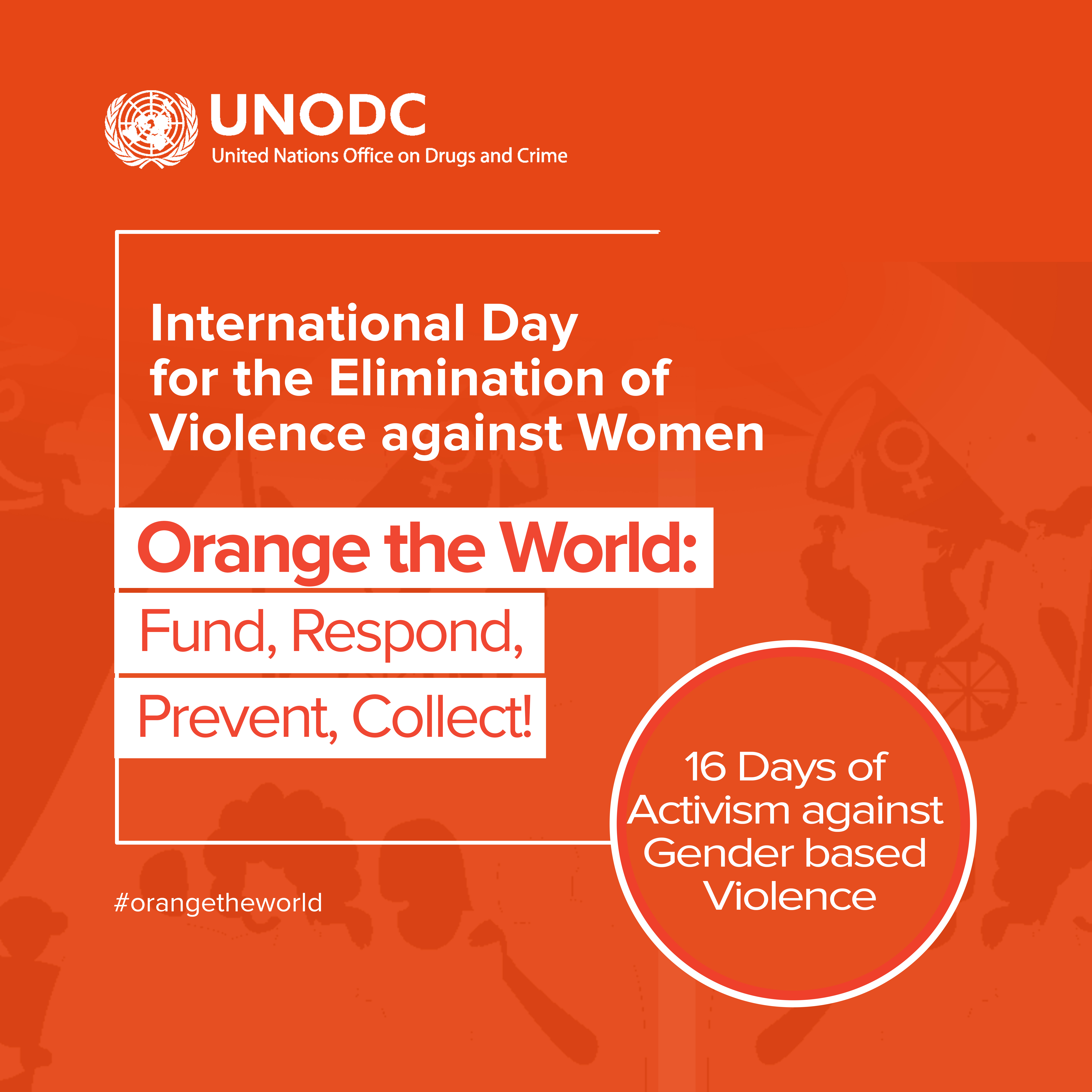 Key Visual of 2020 International Day          for the Elimination of Violence against Women,