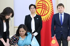 The Government of Japan allocates US$6.2 million for improving maternal and child health, and drug control in the Kyrgyz Republic