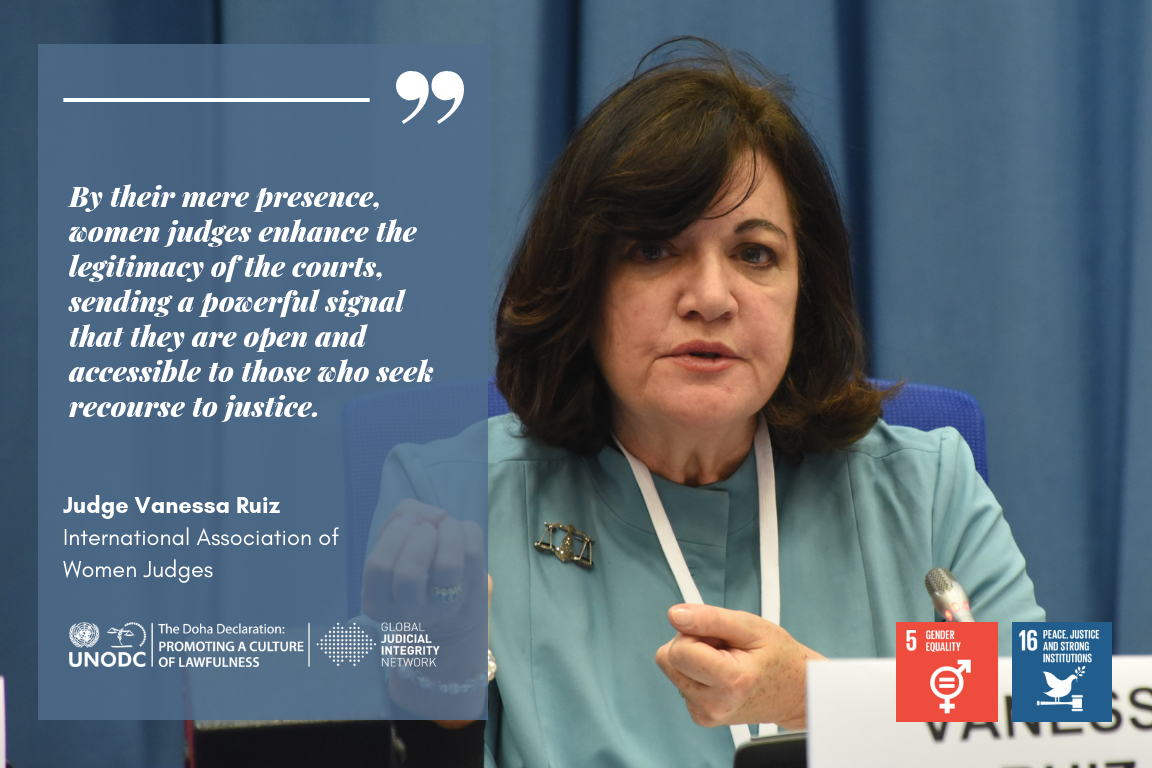 Female Judge          Ruiz with Quote