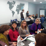 Women at the training in Kyiv,          Ukraine