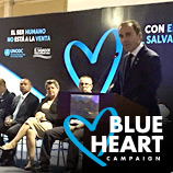 Brazilian Blue Heart Campaign launch with UNODC's Executive Director Yury Fedotov, Justice Minister José Eduardo Cardozo and singer Ivete Sangalo. Credit: Isaac Amorin