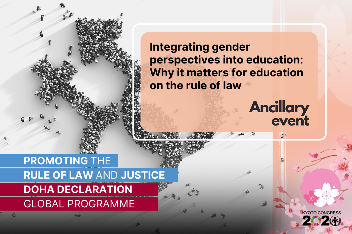 14th UN Crime Congress: Integrating gender perspectives into education