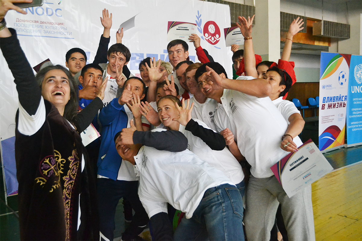 "Training of sport trainers and physical education teachers on ""Line Up Live Up"" kicks off in Kyrgyzstan"