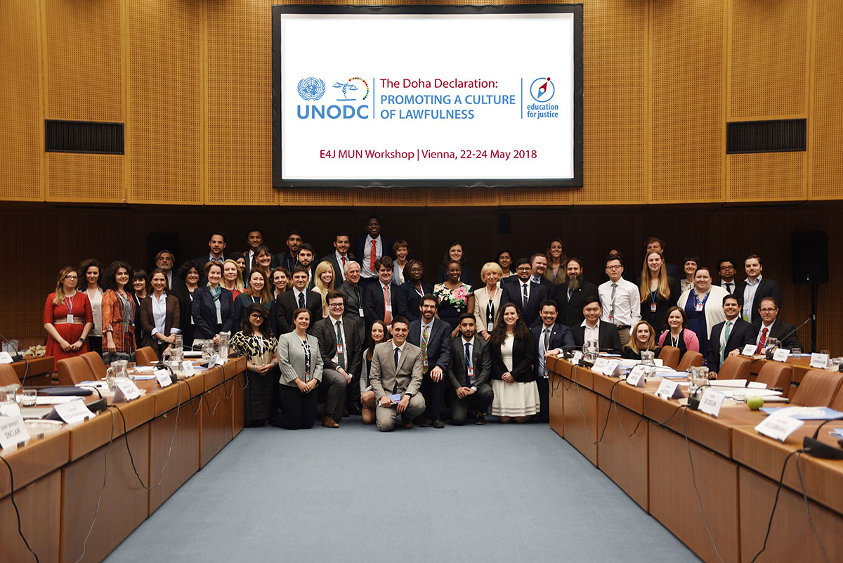 UNODC's Model UN guide tested and praised in first training exercise