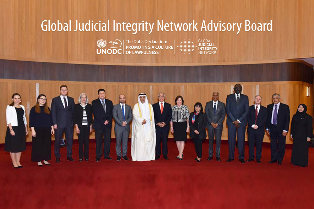 In Doha, Advisory Board assesses strides taken by Global Judicial Integrity Network