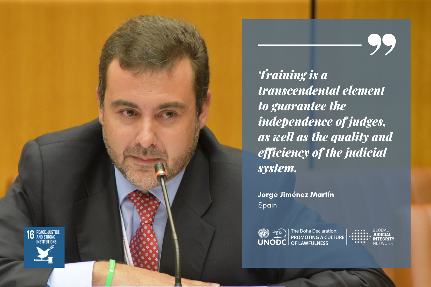 Guaranteeing an independent and efficient judiciary through training