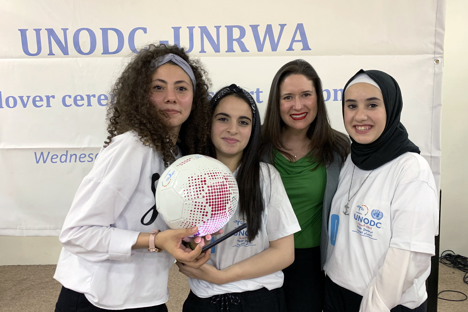 With UNODC's Global Programme, Palestinian youth Line Up, Live Up through sports