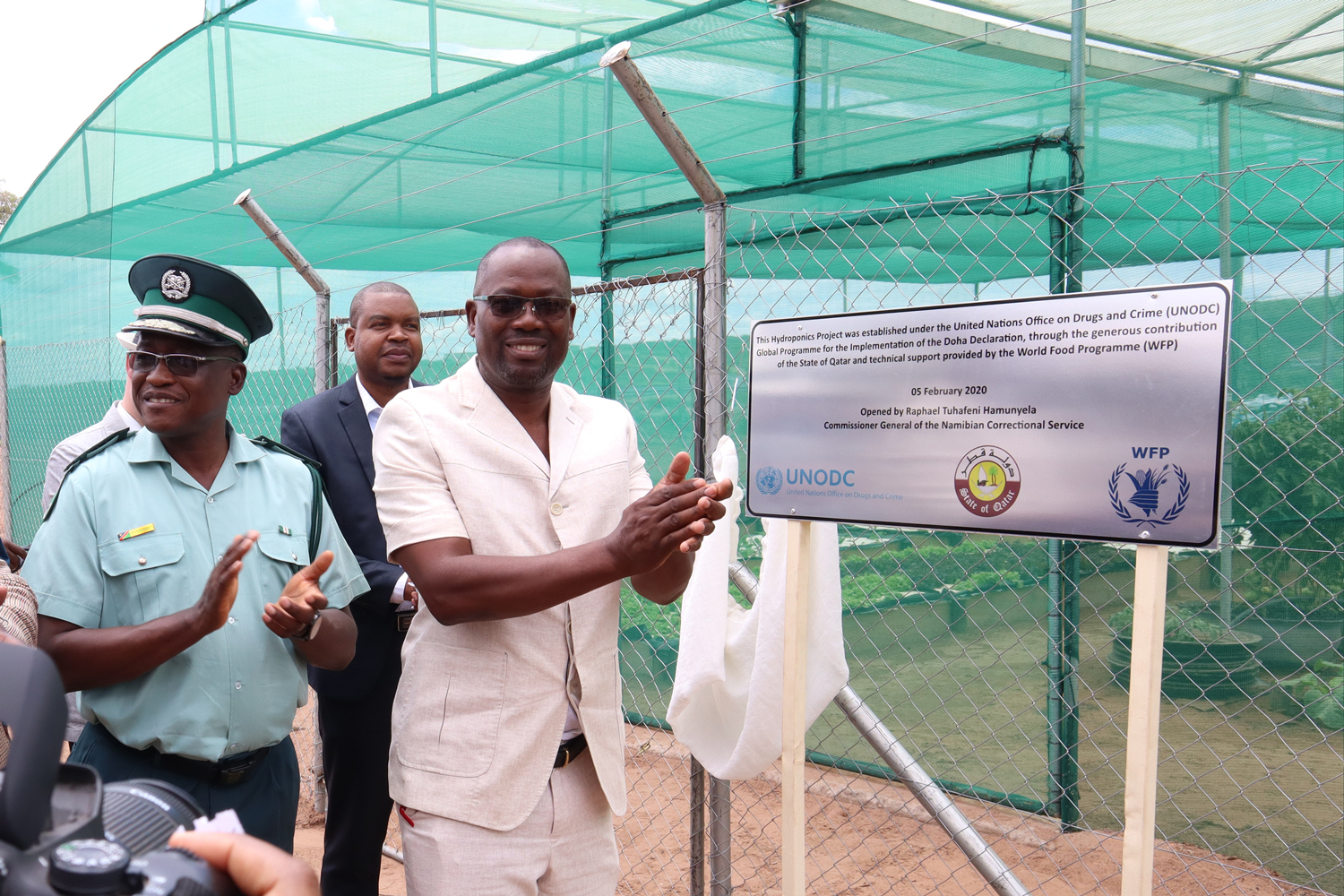 Serving society and the environment, UNODC launches hydroponics and soap production prisoner rehabilitation projects in Namibia
