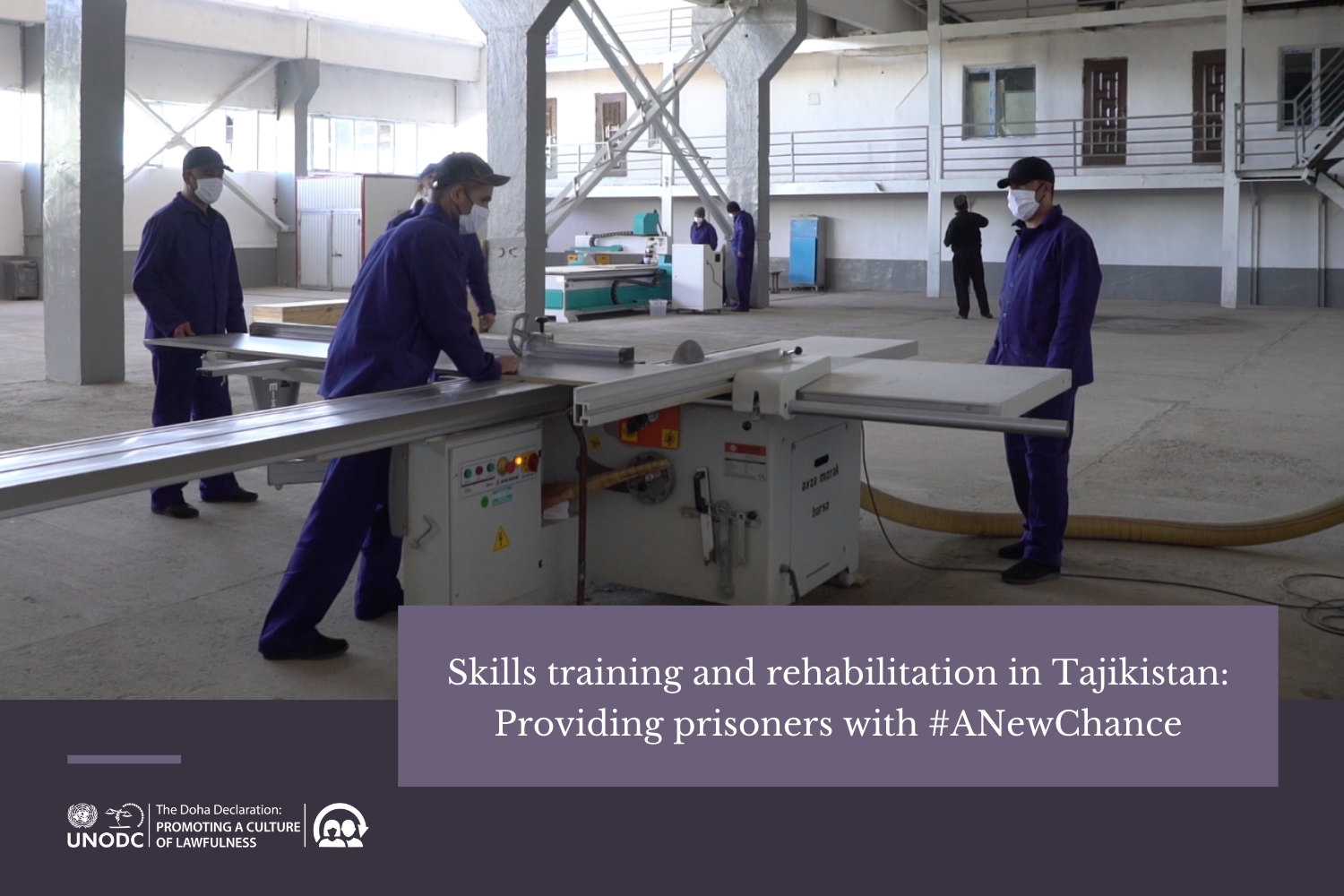 With metalwork and woodwork, UNODC supports prisoner rehabilitation in Tajikistan