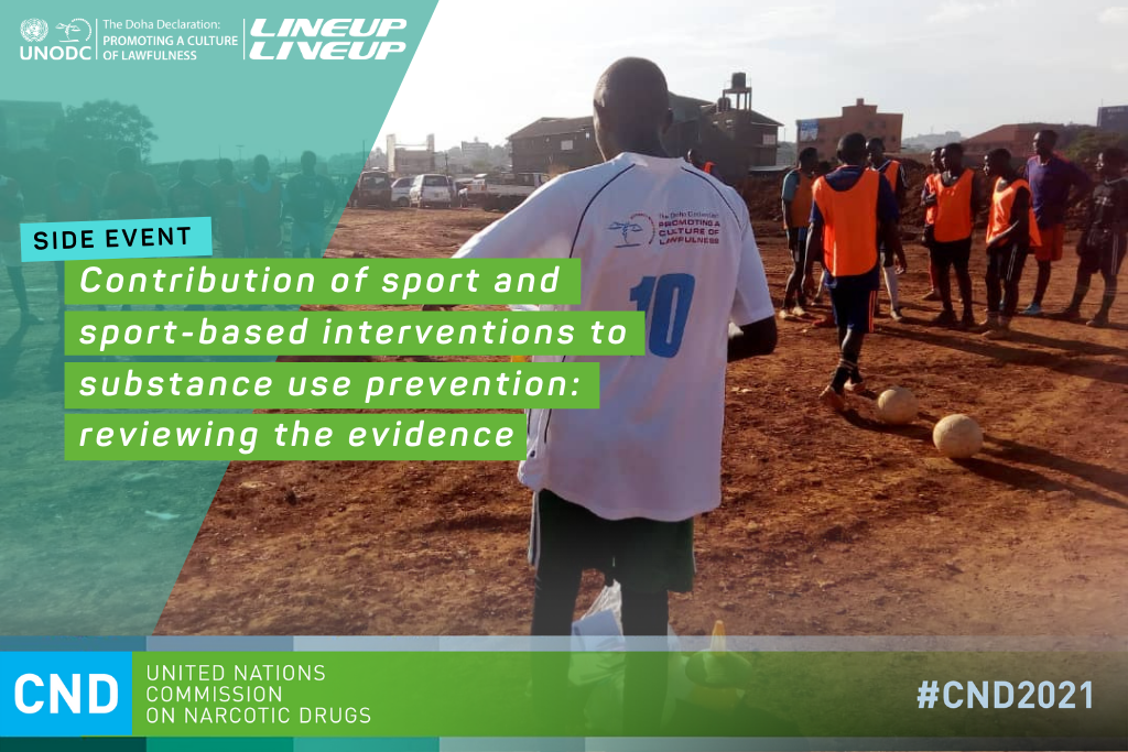 Leveraging sport for substance use prevention: reviewing the evidence at the Commission on Narcotic Drugs