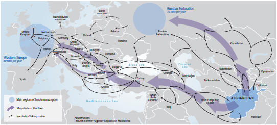 Northern and Balkan heroin routes