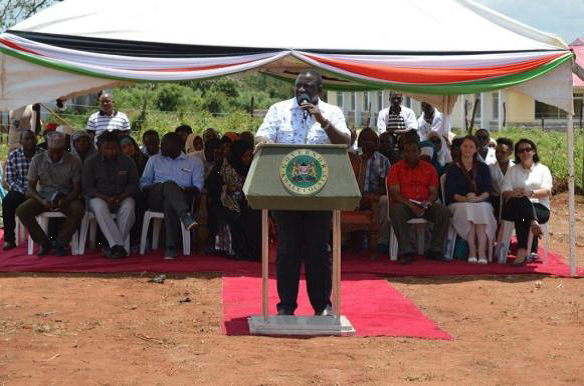 Governor Kwale, H.E Salim Mvurya delivers the speech