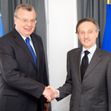 Photo: NATO: Yury Fedotov, UNODC Executive Director (left) with NATO Deputy Secretary General Claudio Bisogniero
