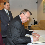 Ambassador Takeshi Nakane (left) and Yury Fedotov