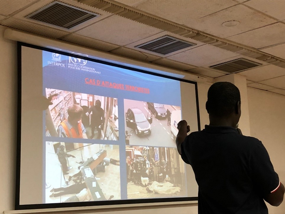INTERPOL's presentation during the training in Chad