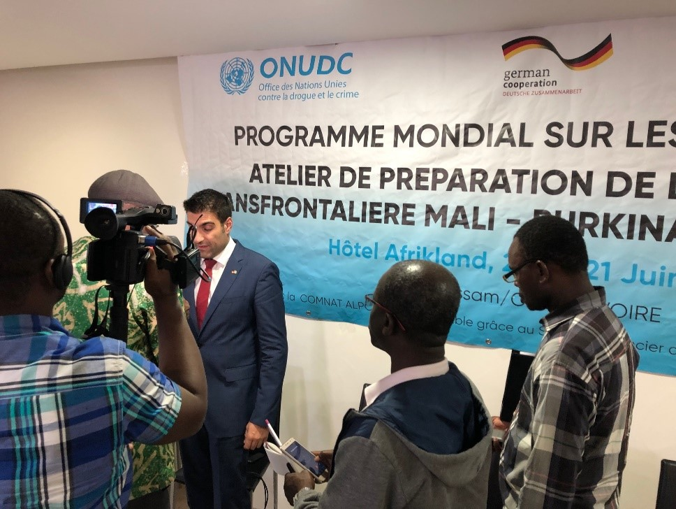Opening ceremony of planning meeting in Côte d'Ivoire