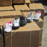 Photo:Consignment of fake branded shoes from China