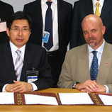 Photo: UNODC: Dr. Sang Ki Pak, left, Director of the Korean Institute of Criminology and Gary Lewis, UNODC Regional Representative for East-Asia