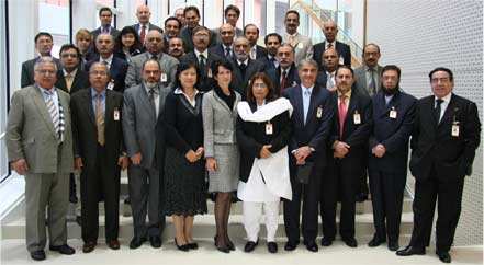 Photo:UNODC: Cecilia Ruthström-Ruin (front row 5th left), Chief of the Terrorism Prevention Branch of UNODC with the group of Pakistani Officials taking part in the training, and other UNODC staff