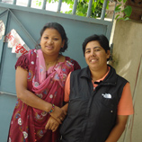 Photo:UNODC: Astha (right) and a colleague at the Shakti Samuha shelter in Kathmandu, Nepal