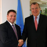 Photo: UNODC: Mr. Michel Perron (left) with Mr. Yury Fedotov, UNODC Executive Director