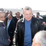 Photo: UNODC: Mr. Fedotov at the Tajik border