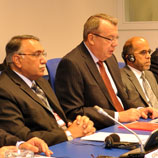 Photo ©UNIS/ From left to right: Sohail Ahmad, Pakistan Secretary, Ministry of Narcotics Control; Yury Fedotov, Executive Director UNODC; and Baz Mohammad Amadi, Afghanistan Deputy Minister of Interior.