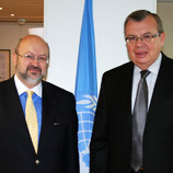 Organization for Security and Co-operation in Europe (OSCE) Secretary General Lamberto Zannier (left) with UNODC Executive Director, Yury Fedotov