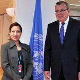 Photo: ©UNIS/ Her Royal Highness Princess Bajrakitiyabha Mahidol of Thailand meets UNODC Executive Director Yury Fedotov