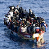 Photo: UNODC: A boat used to smuggle migrants