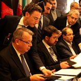 Photo: ©UNAMA: Triangular Initiative officials sign a declaration together with UNODC Chief Yury Fedotov in Kabul, Afghanistan