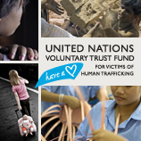 Photos: A. Scotti for UN.GIFT/UNODC; Kay Chernush for the U.S. State Department; UNICEF/ HQ03-0297/Christine Nesbitt (upper left corner: this photo was not taken in the context of human trafficking)