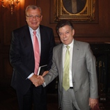 UNODC Executive Director, Yury Fedotov with Colombian President, Juan Manuel Santos