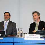 UNODC Deputy Director Sandeep Chawla (left) with Georg Kell, Executive Director, UN Global Compact Office