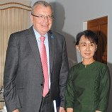 Yury Fedotov, UNODC Executive Director, meets Nobel laureate Daw Aung San Suu Kyi at her residence in Yangon