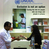 Photo: UNODC booth at AIDS Conference