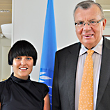 Bianca Kopp with Mr. Fedotov