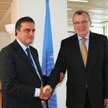 UNODC Executive Director Yury Fedotov (right) with Brazilian Minister of Justice José Eduardo Cardozo