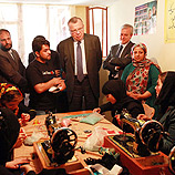Photo: UNAMA/Kanalstein: Yury Fedotov, UNODC chief, at the House of Hope in Kabul