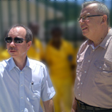 Yury Fedotov, UNODC Executive Director (right) with Joel Morgan, Seychelles Minister of Home Affairs (left)