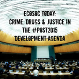 UNODC Chief, at ECOSOC panel, stresses need to promote rule of law, combat drugs, crime in post-2015 development agenda