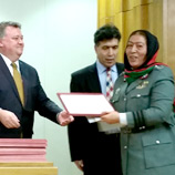 Closing ceremony of Afghan Counter Narcotics Police training at the All-Russia Advanced Training Institute of the Ministry of the Interior (Domodedovo Training Centre). Photo: UNODC