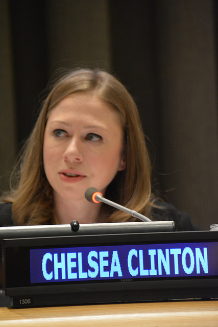 Chelsea Clinton, Vice Chair of the Clinton Foundation at the High-level stakeholder dialogue on illegal wildlife trade, UN General Assembly - Photo: German Mission to the United Nations