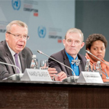 UNODC Executive Director, Yury Fedotov, speaking at side event: 6th Forum of Parliamentarians, Panel 1: Partnerships to Curtail Corruption in the Pacific, on 5 November 2015 during Sixth Session of the Conference of the States Parties to the United Nations Convention against Corruption (UNCAC). Photo: UNIS Vienna