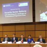 UNODC hosts discussion on impact of organized crime on international security sector governance and reform. Photo: UNODC