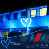 Costa Rica joins the Blue Heart Campaign. Photo: UNODC