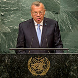 UNODC Chief Yury Fedotov in his remarks at the UN High-level meeting for Refugees and Migrants at the 71st UNGA. Photo: UN Photo/Cia Pak