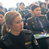 Victims of gender-based violence may be more comfortable talking to female officers, UNODC expert says Photo: UNODC