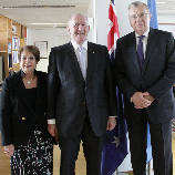 Governor-General of Australia visits UNODC, discusses partnership on the challenges of drugs, organized crime, corruption and terrorism. Image: UNODC
