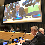 Concerted action, measures in line with human rights norms needed to combat terrorism, UNODC Chief tells High-Level Conference. Image: UNODC
